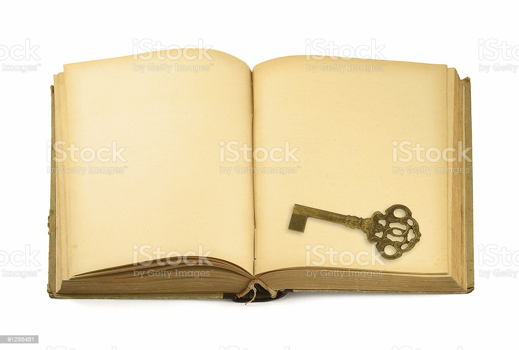 key on old book royalty-free stock photo