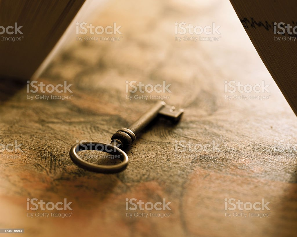 Key open the knowledge royalty-free stock photo