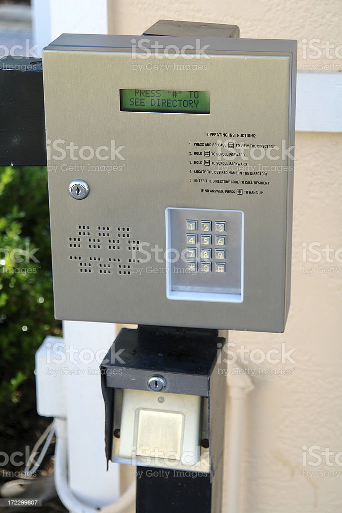 Key Pad For Gate royalty-free stock photo