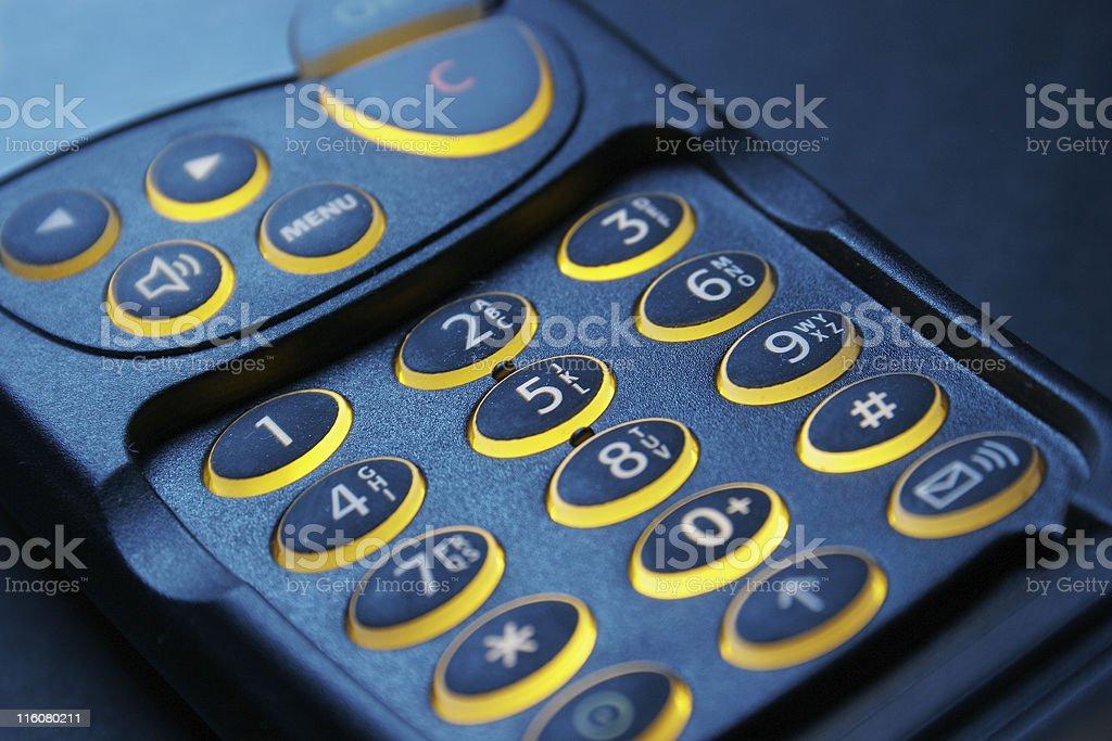 key pad of a phone royalty-free stock photo