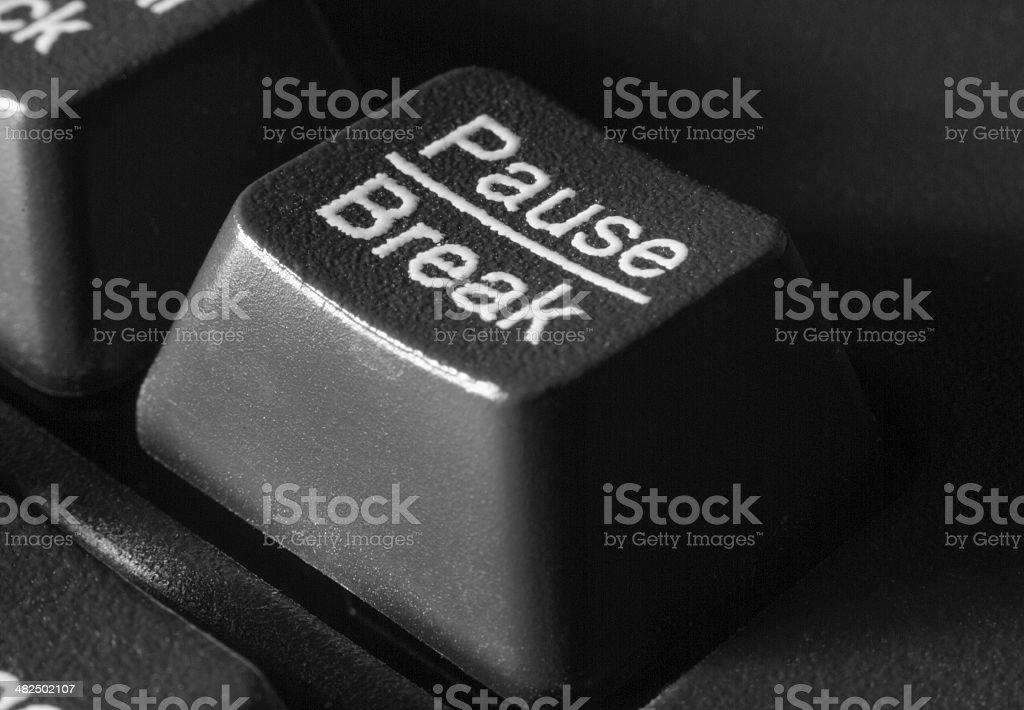 key pause/break on the computer keyboard stock photo