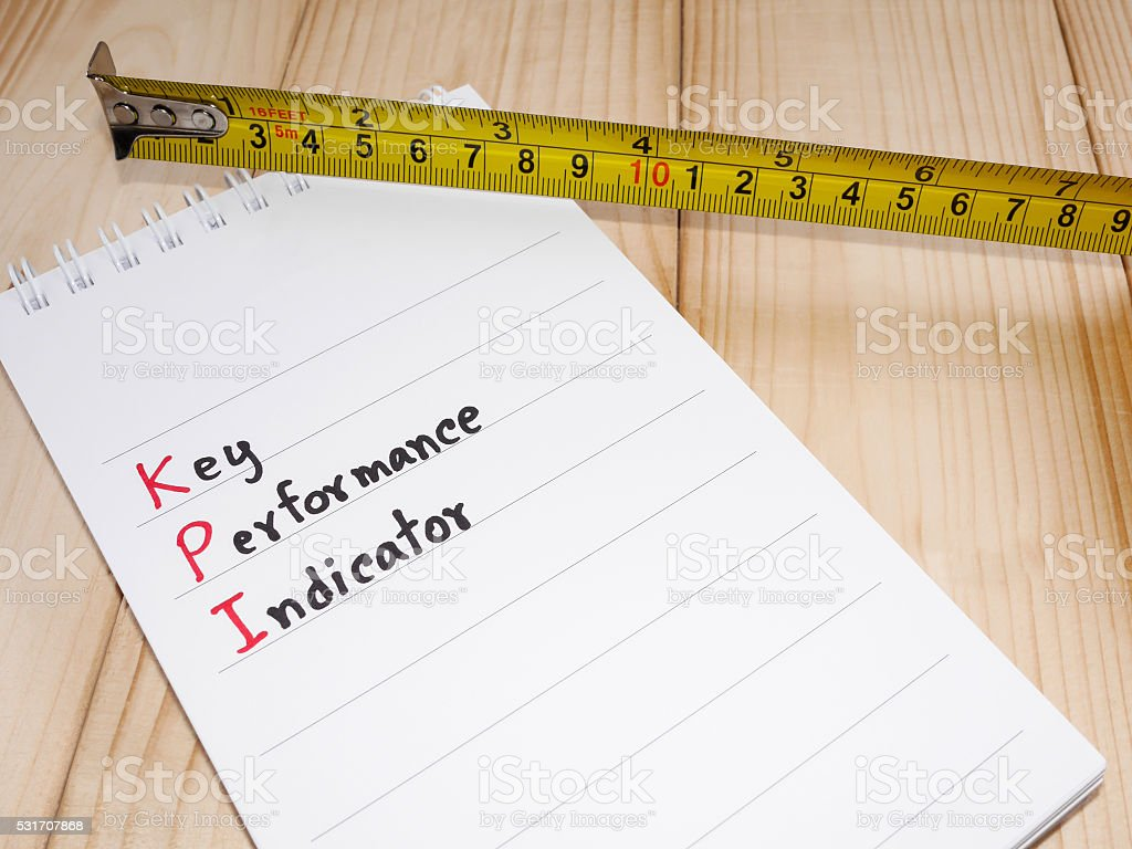 Key Performance Indicator 18 stock photo