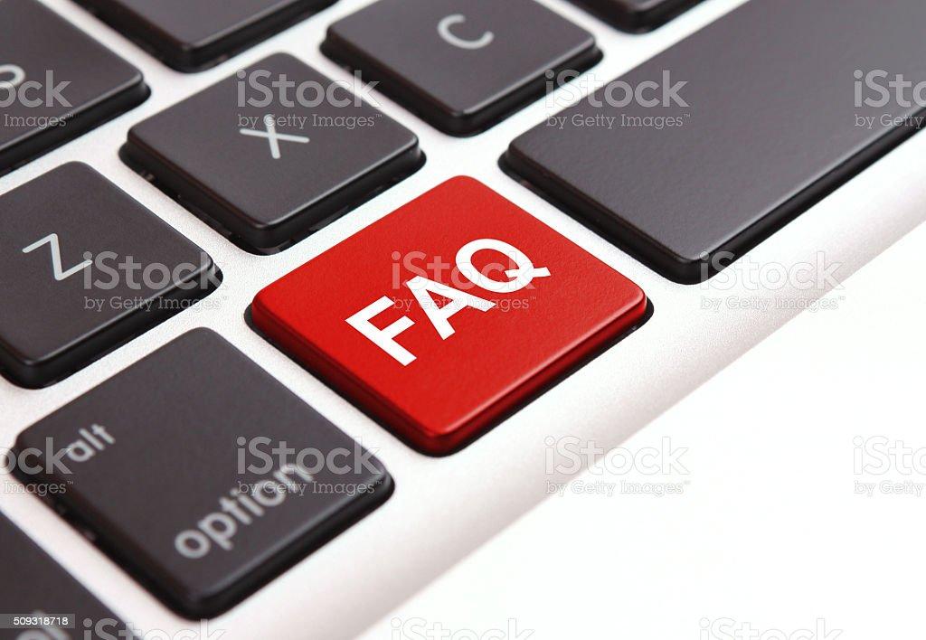 FAQ Key stock photo