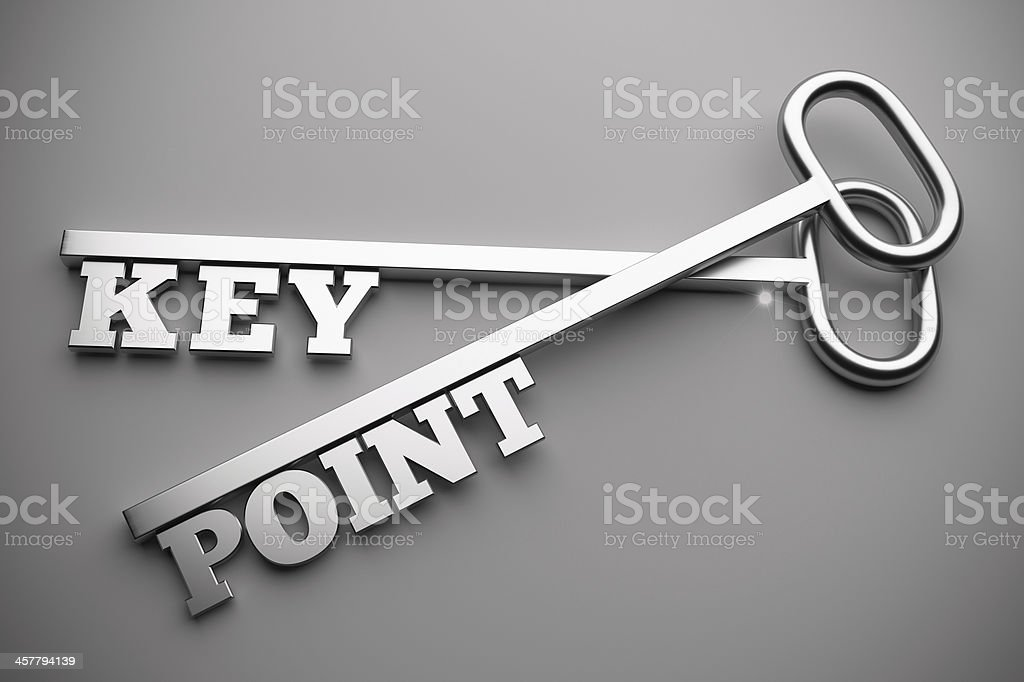 key point stock photo