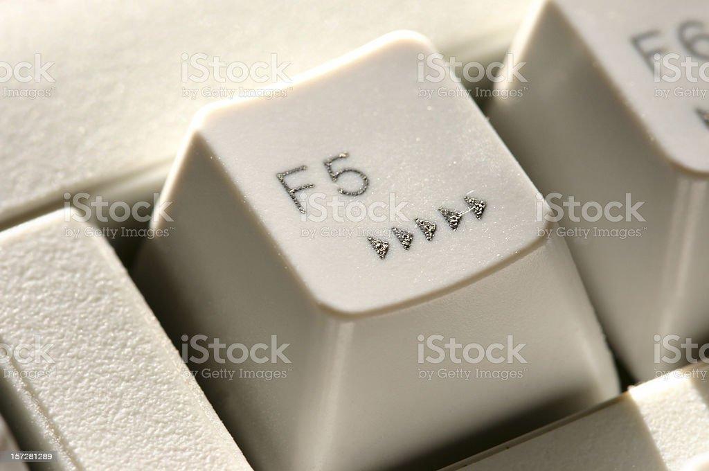 F5 Key - Refresh stock photo