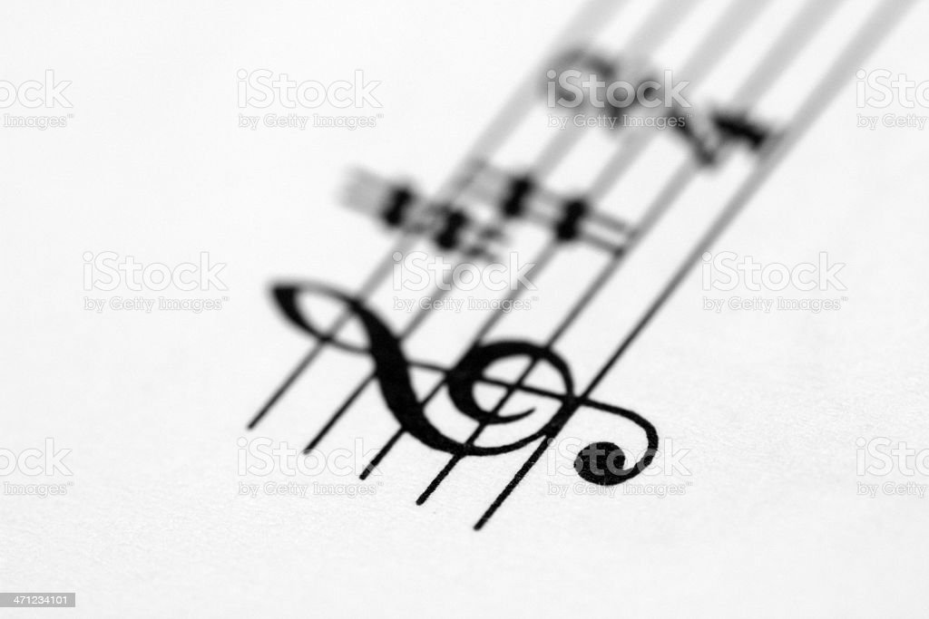 Key signature printed on paper royalty-free stock photo