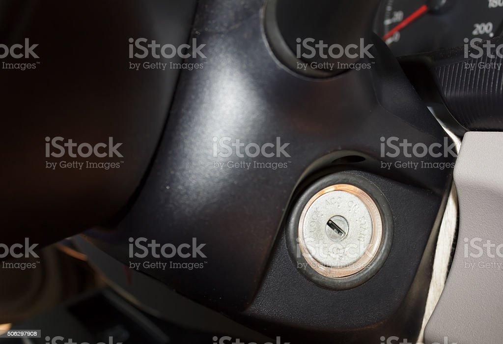 Key switch stock photo