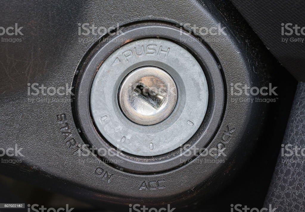 Key switch,Car key stock photo
