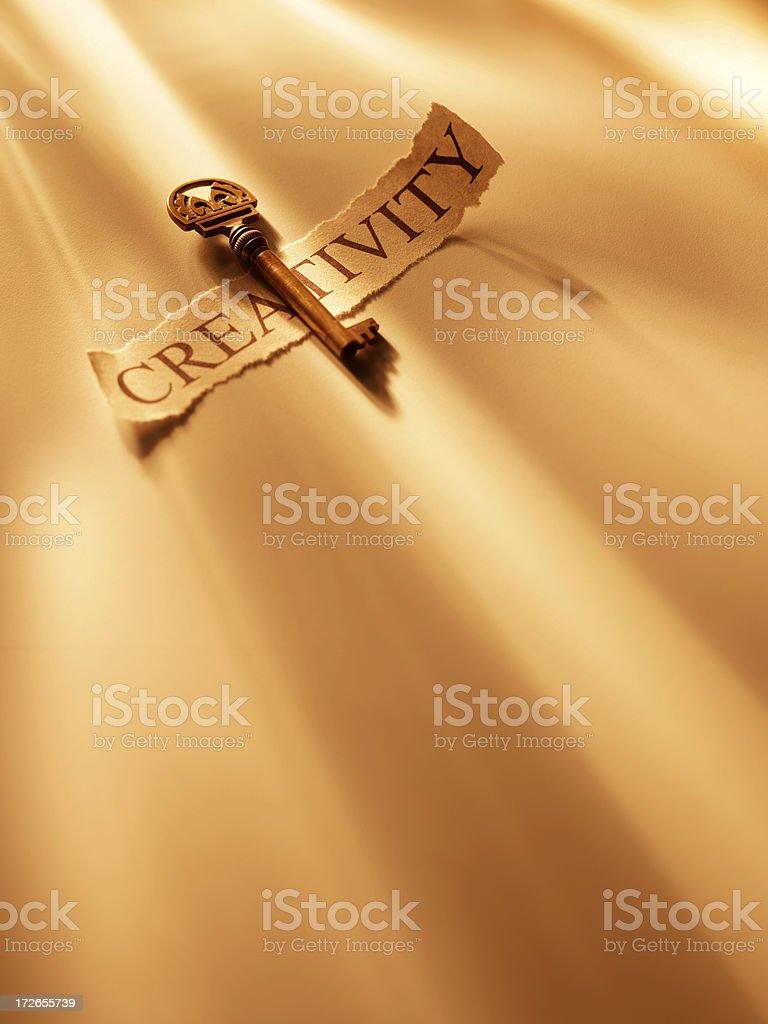Key to Creativity royalty-free stock photo