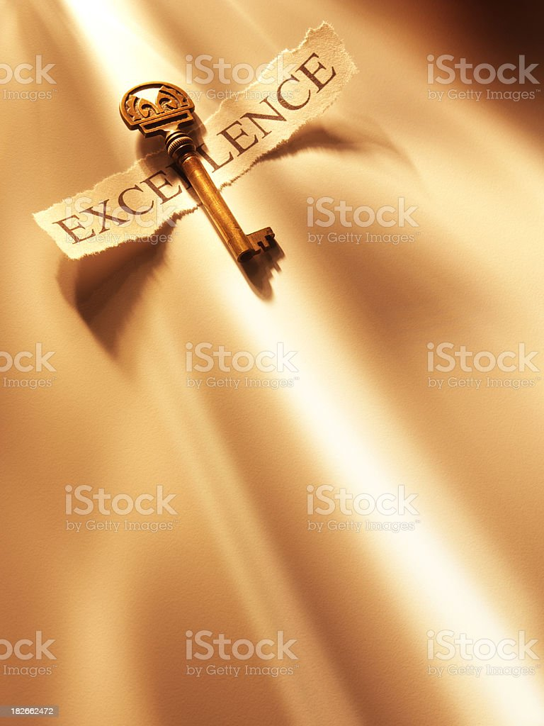 Key to Excellence royalty-free stock photo