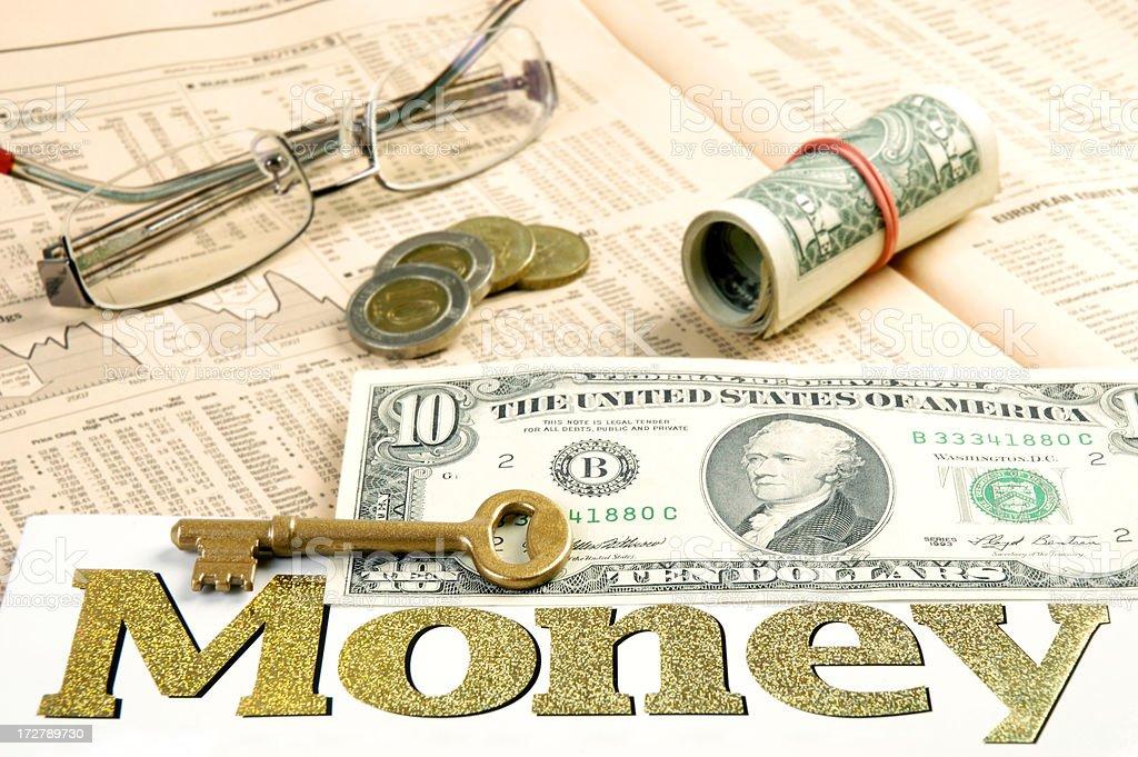 Key to Financial Freedom royalty-free stock photo