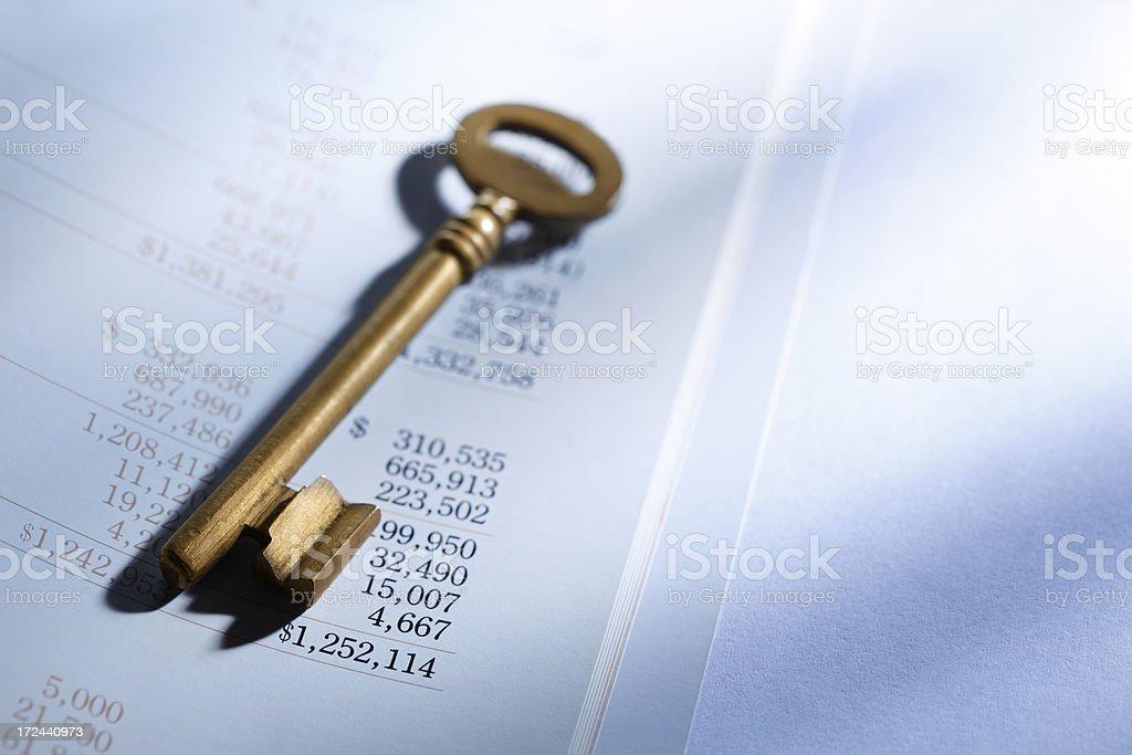 Key to Financial Success royalty-free stock photo