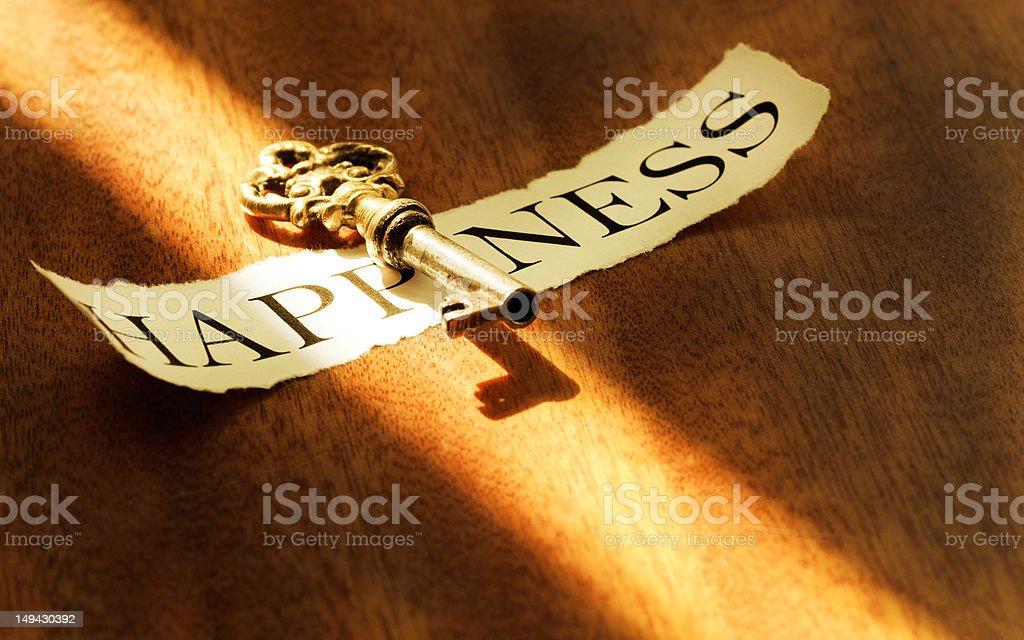 Key to Happiness stock photo