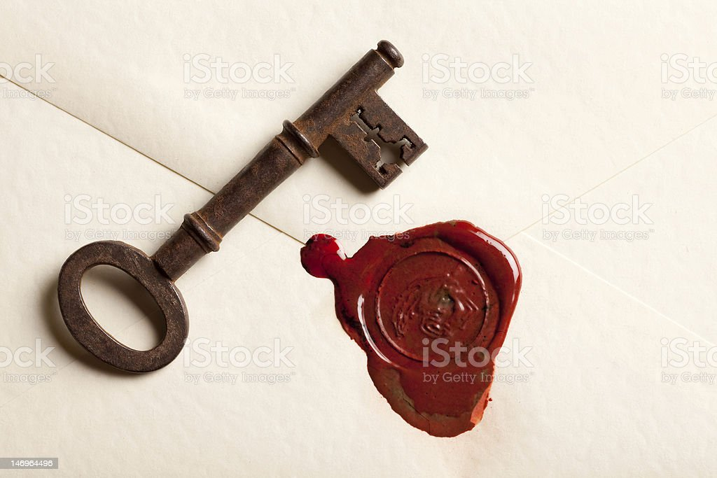 Key to her heart stock photo
