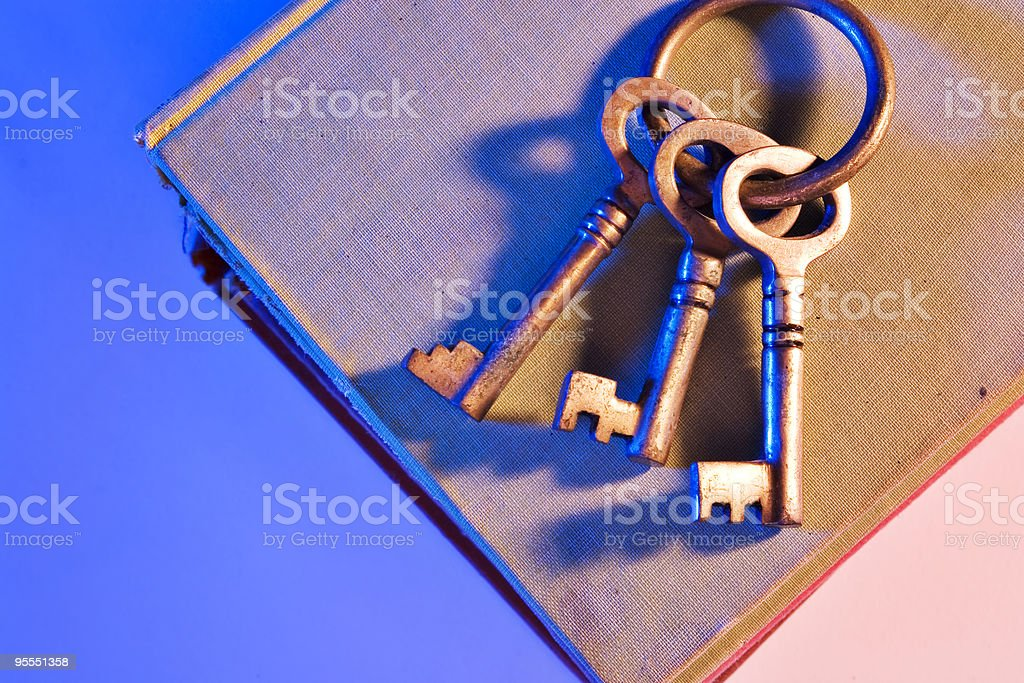 Key to higher learning stock photo