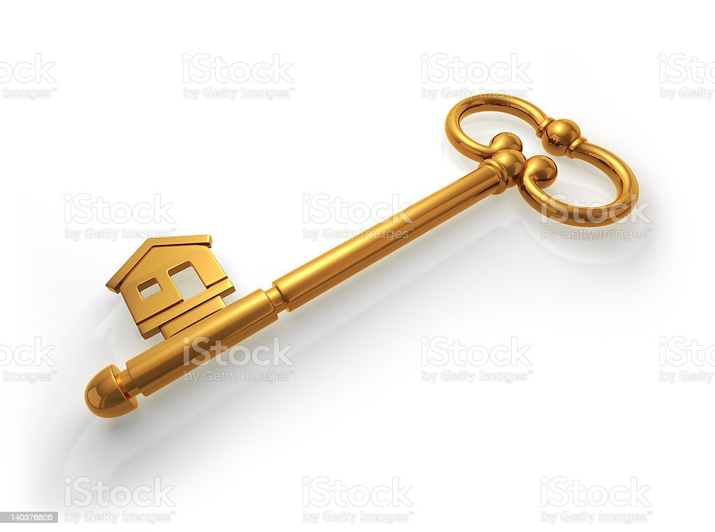 Key to Home Owning royalty-free stock photo