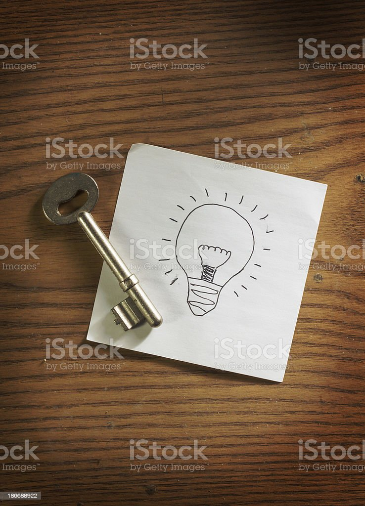 Key to idea royalty-free stock photo