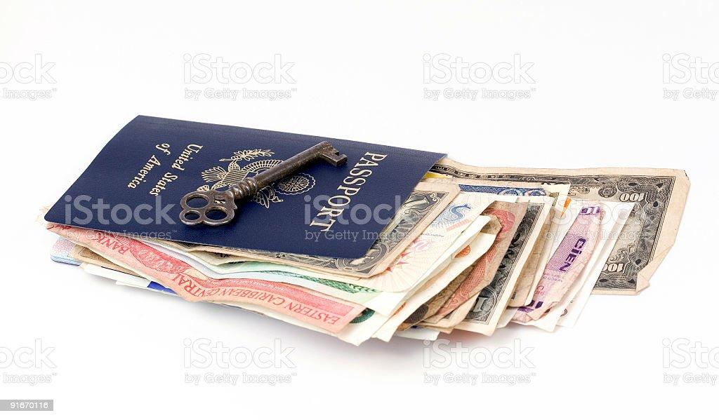 Key to international travel stock photo
