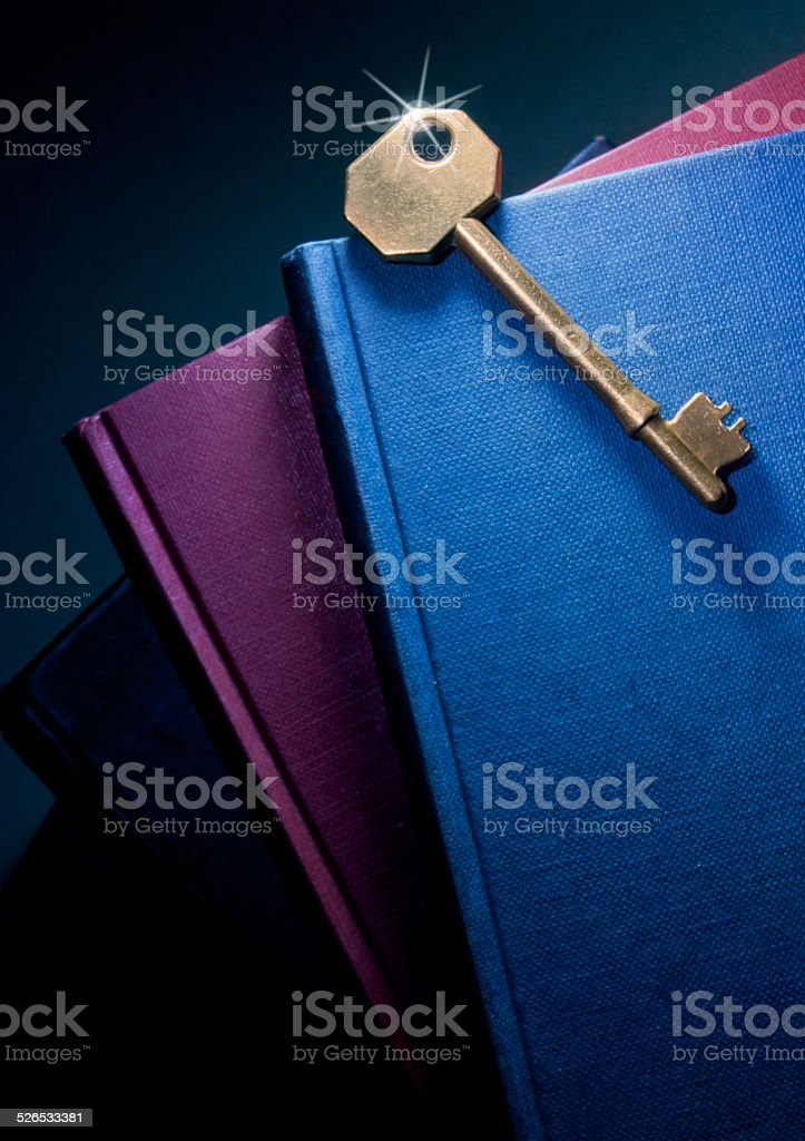 Key to knowledge and education stock photo