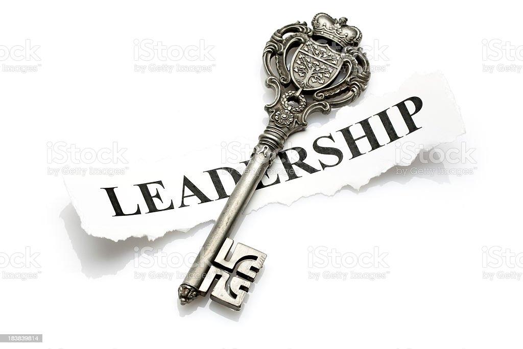 key to leadership stock photo
