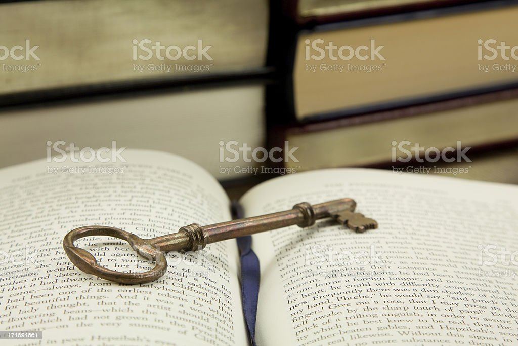 Key to Learning royalty-free stock photo
