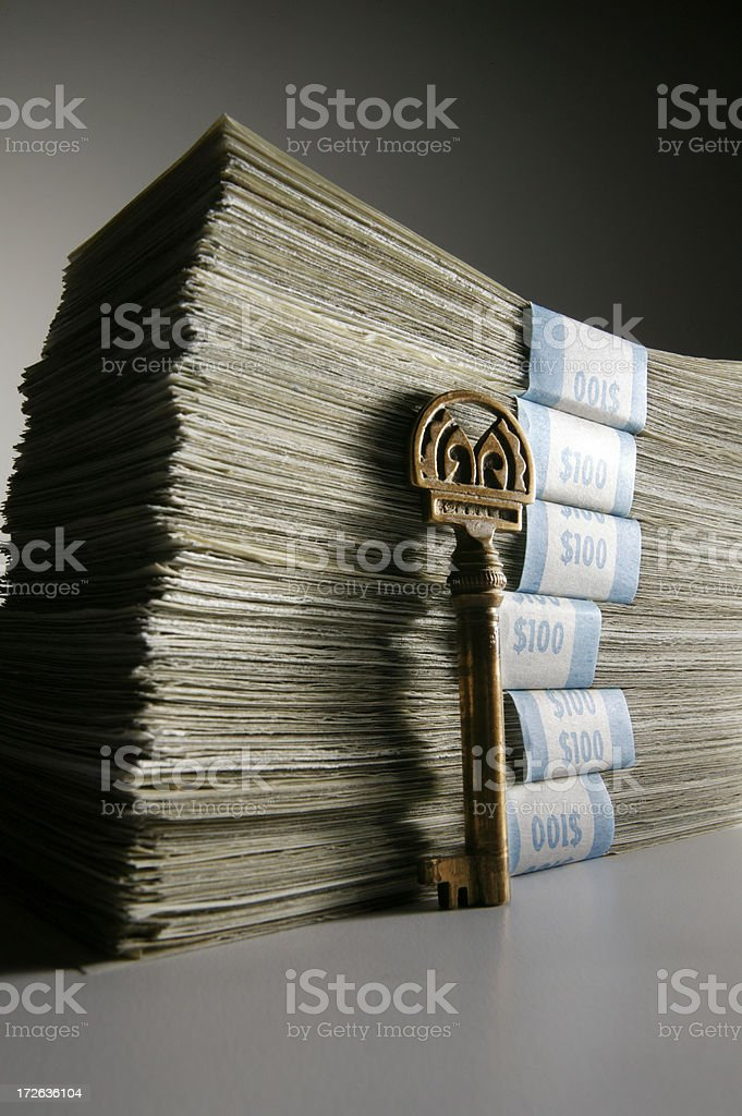 Key to Making Money 3 royalty-free stock photo