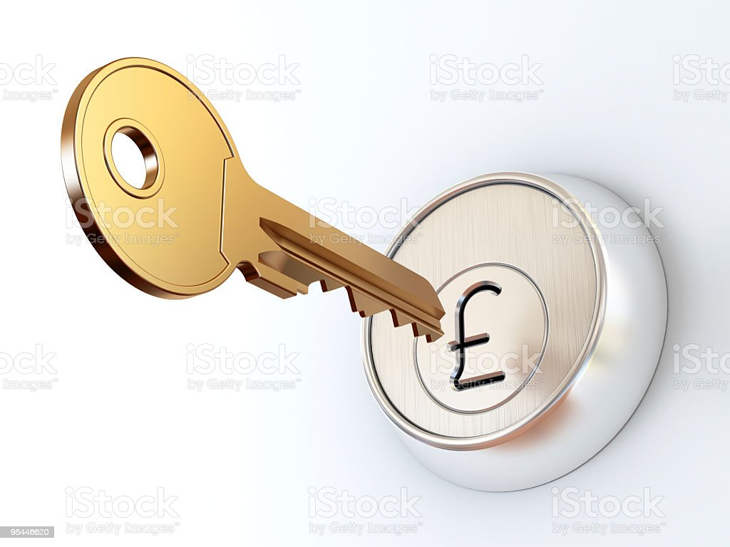 Key to money. royalty-free stock photo