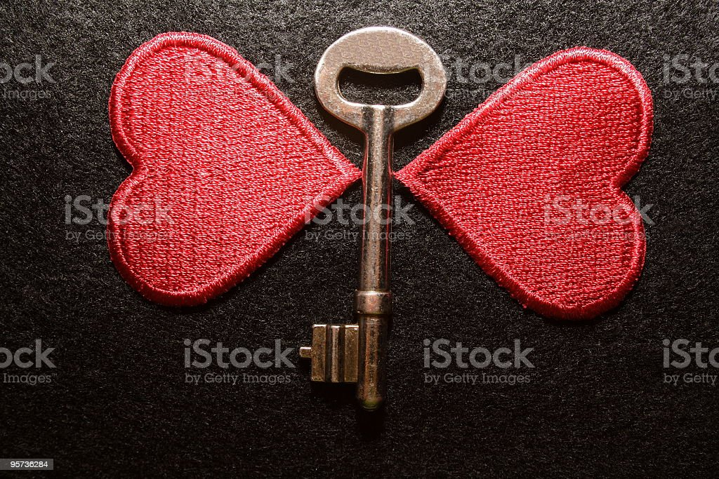 Key to my heart - butterfly royalty-free stock photo