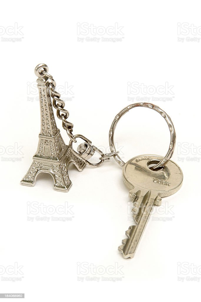 Key to Paris royalty-free stock photo