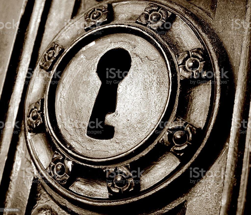 Key to past royalty-free stock photo