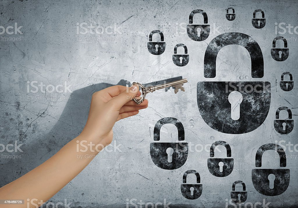 Key to problem royalty-free stock photo