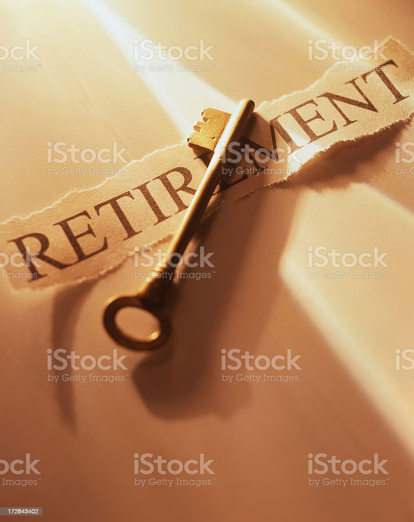 Key to Retirement royalty-free stock photo