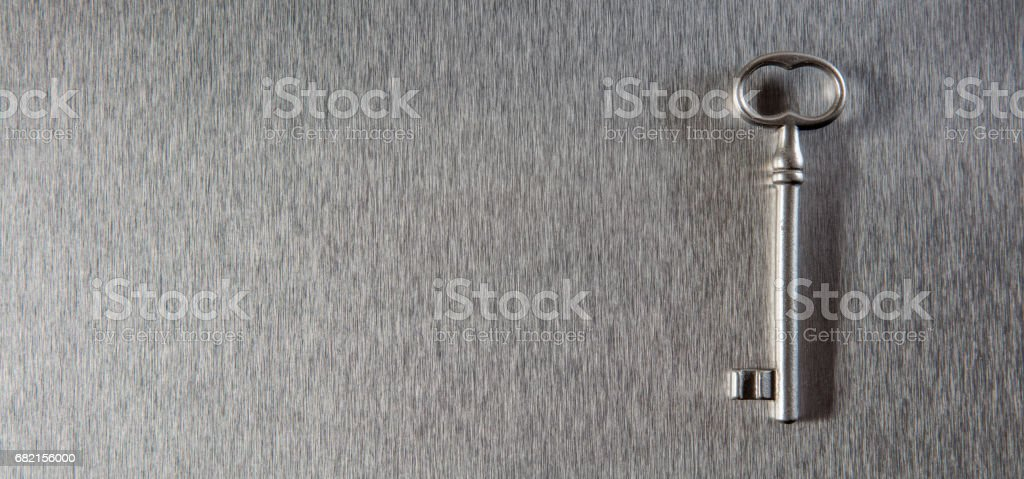 key to safe business solution or property access, copy space stock photo