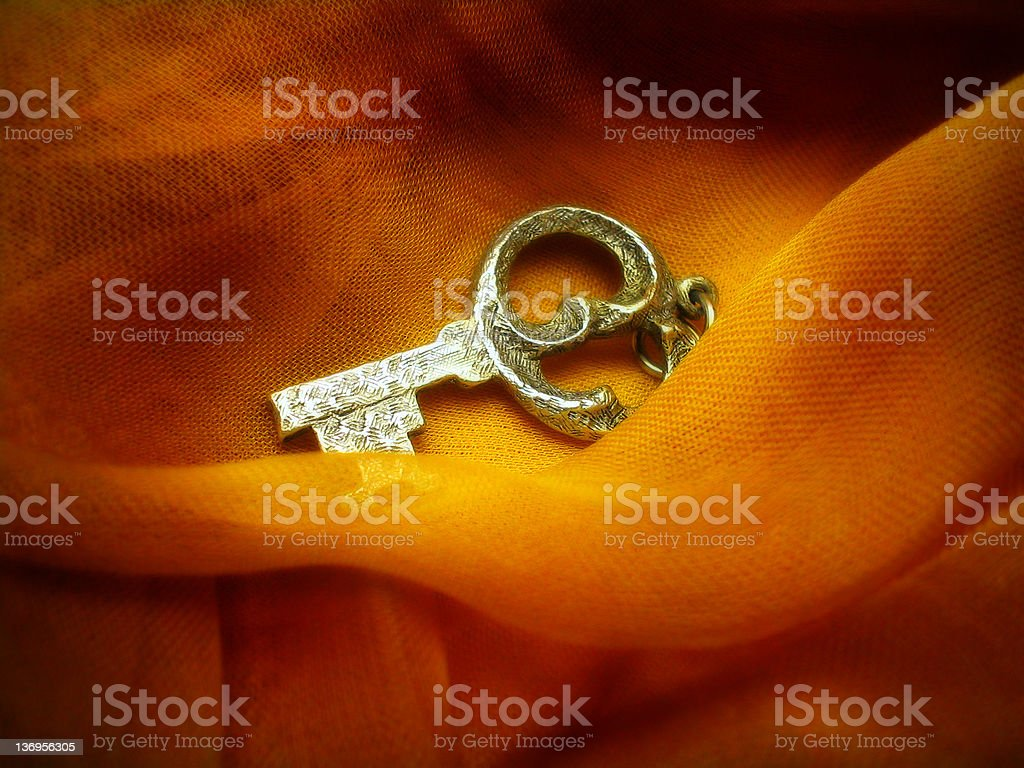 Key to serenity (antique) stock photo