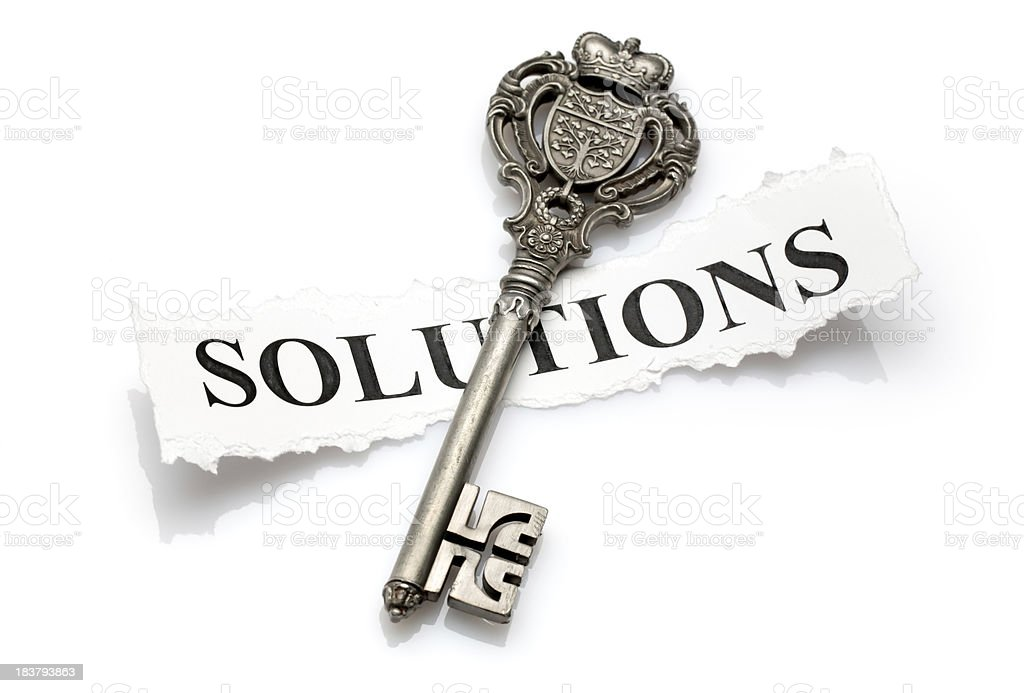 key to solutions stock photo