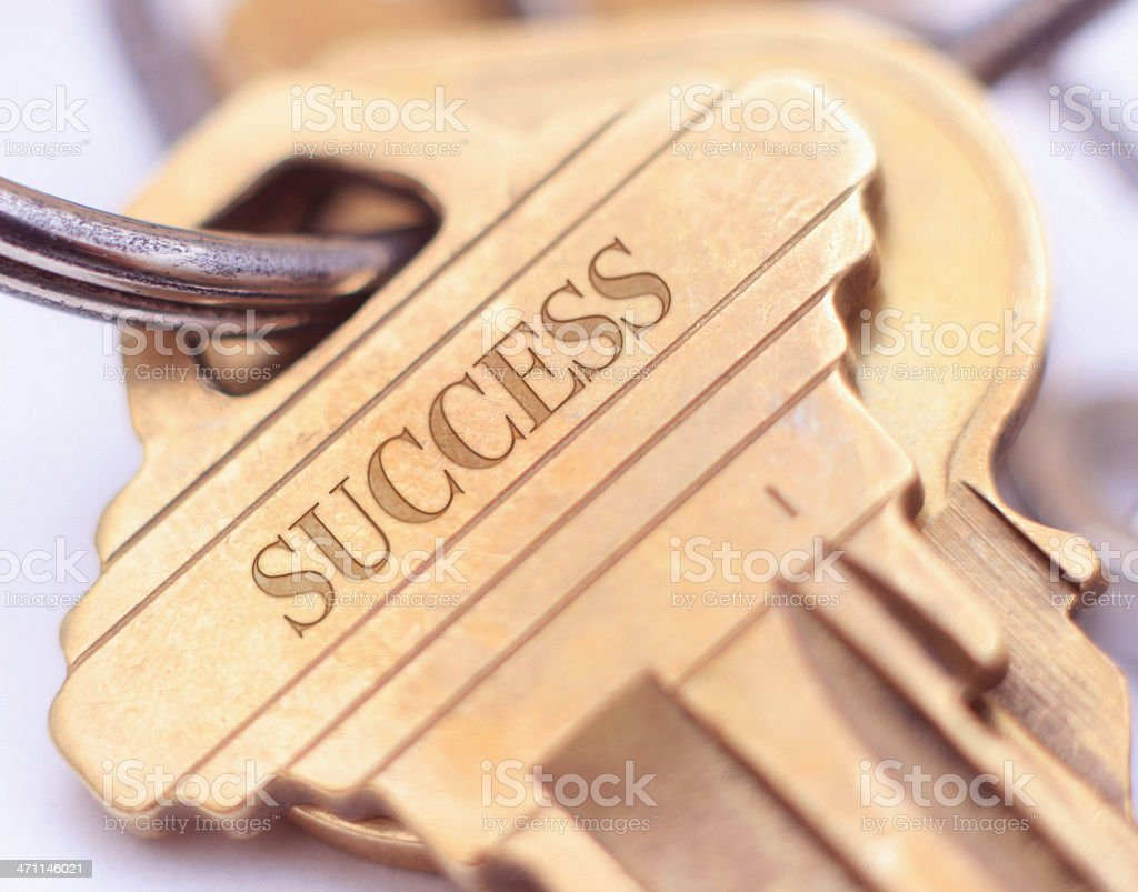 Key to Success - Concept Photo (Close Up) stock photo