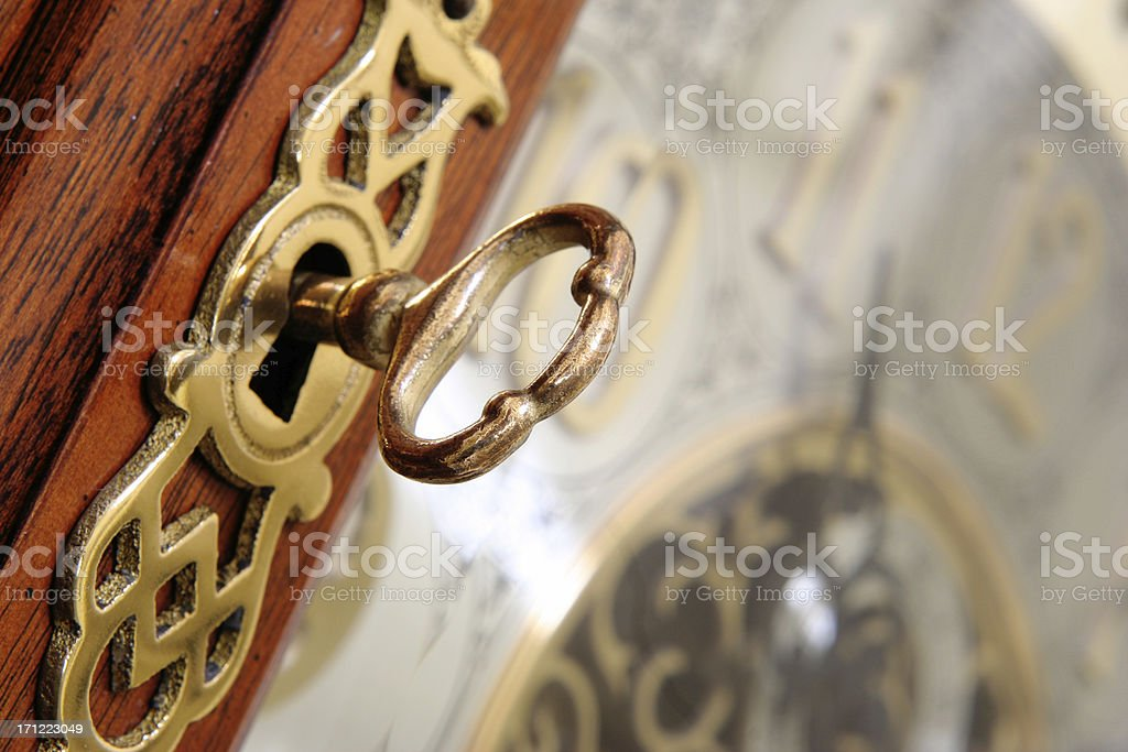Key to the Clock royalty-free stock photo