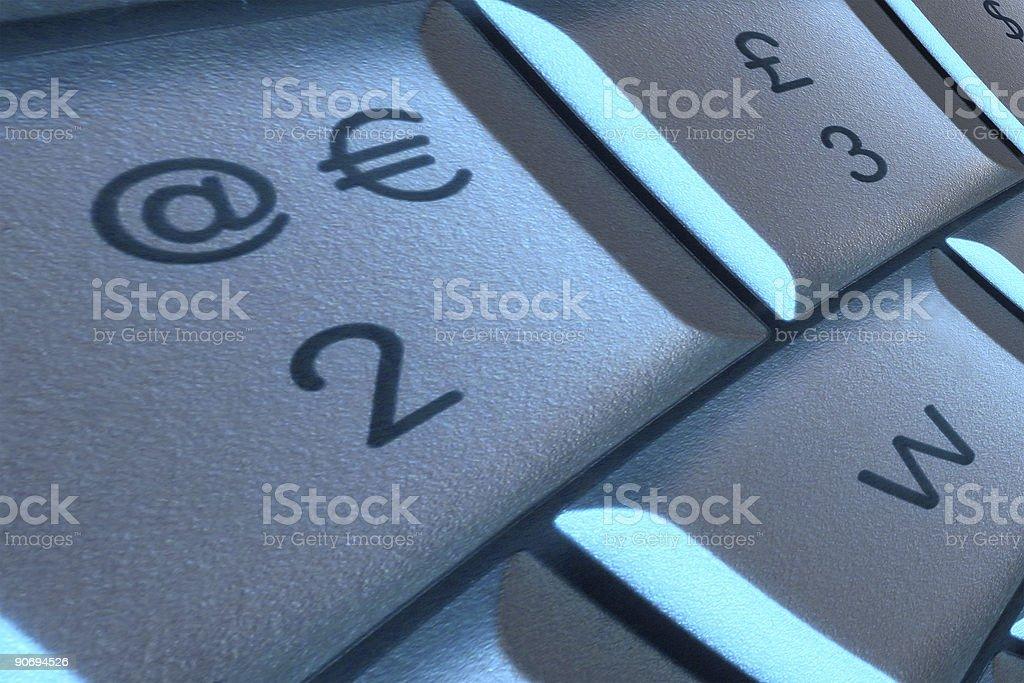 Key to the euro royalty-free stock photo