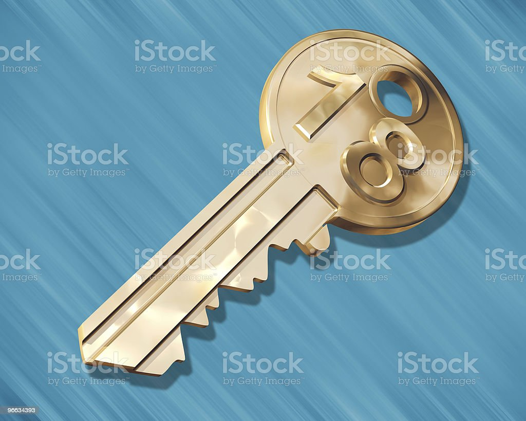 Key to the House royalty-free stock vector art