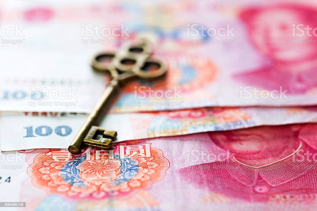 Key to wealth concept stock photo