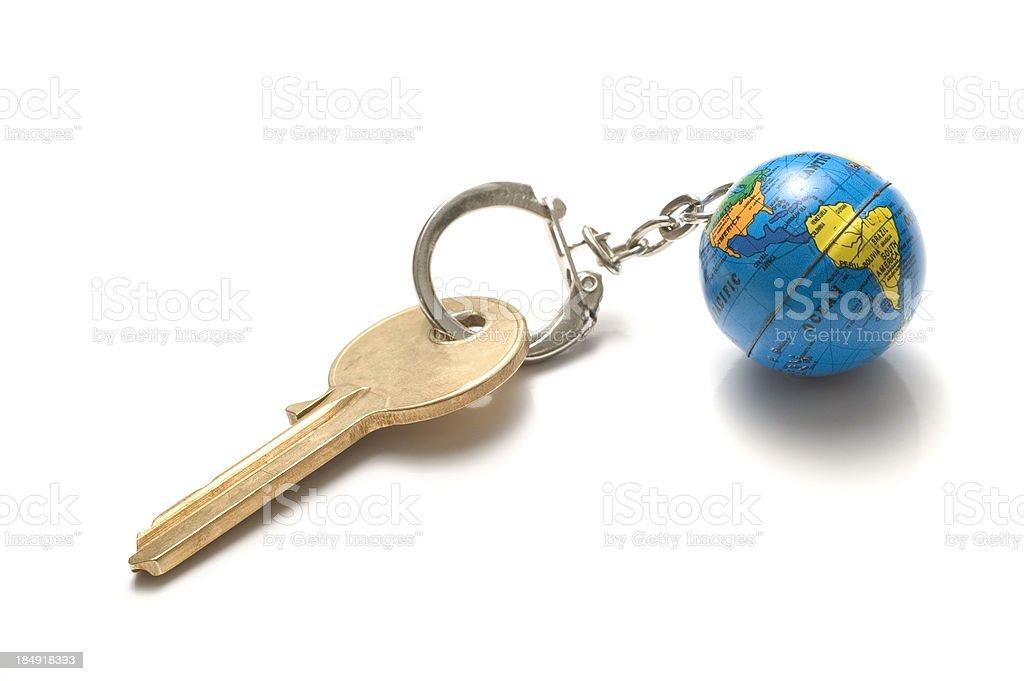 key to world stock photo
