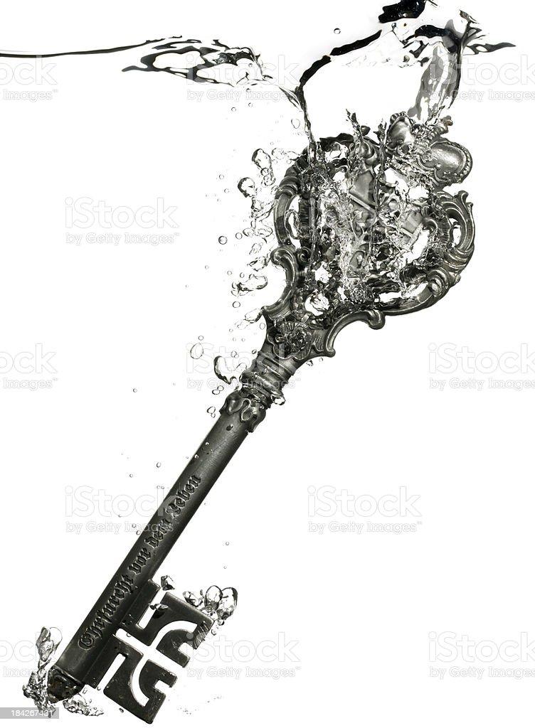 key under water royalty-free stock photo