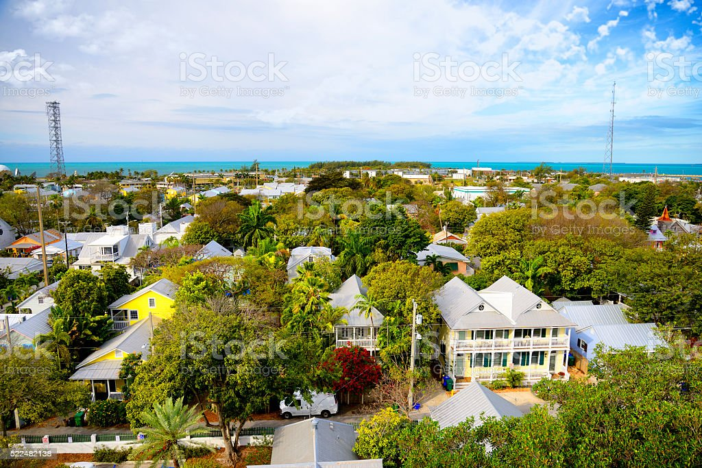 Key West aerial view stock photo