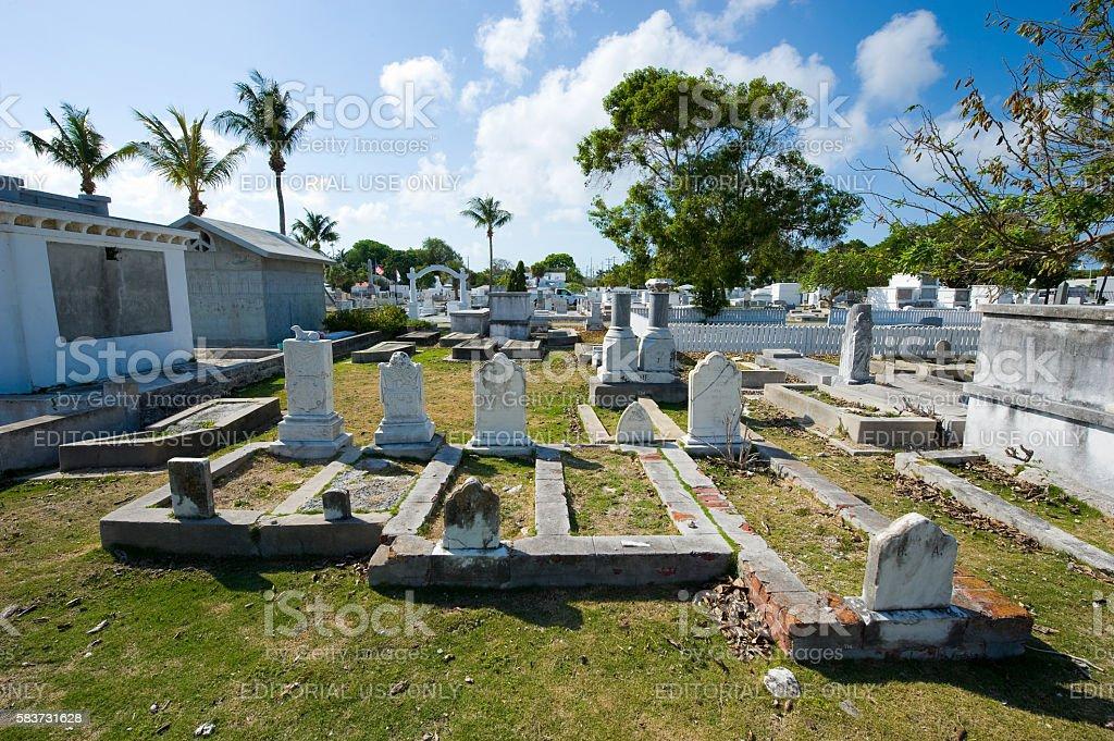 Key West cemetery stock photo