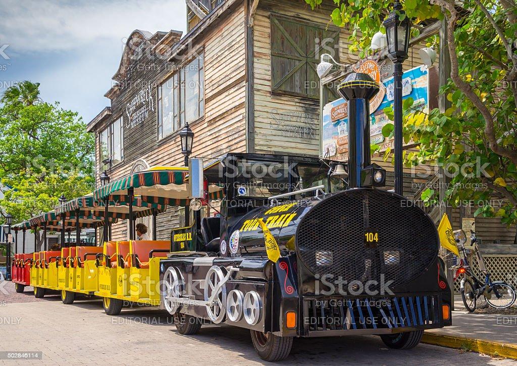 Key West Conch Tour Train stock photo