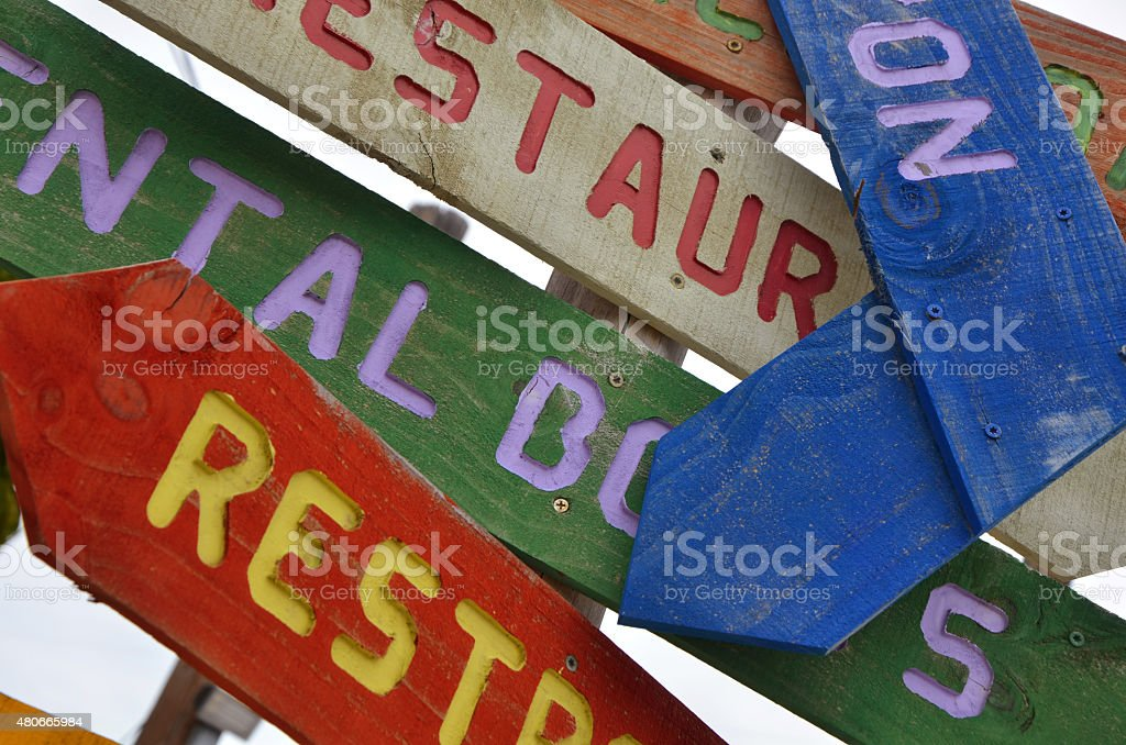 Key West Directional Signs stock photo