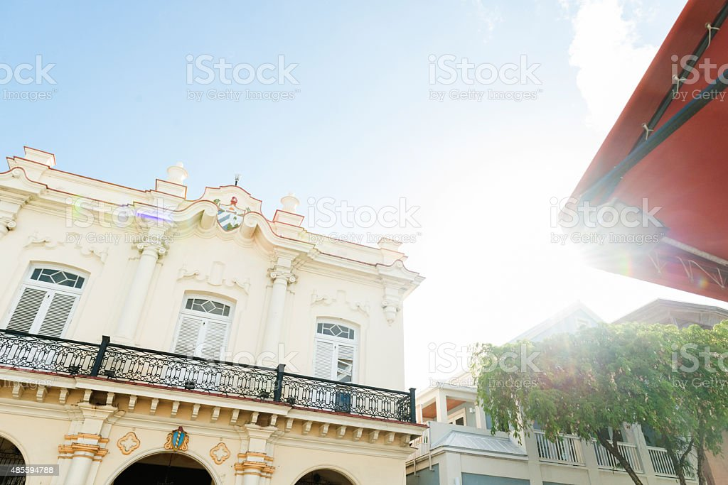 Key West Duval Street Historic Architecture Tropical Travel Destinations USA stock photo