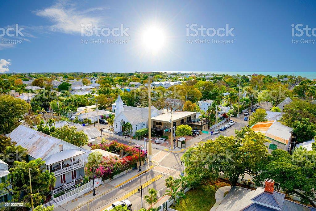 Key West Florida, aerial view stock photo