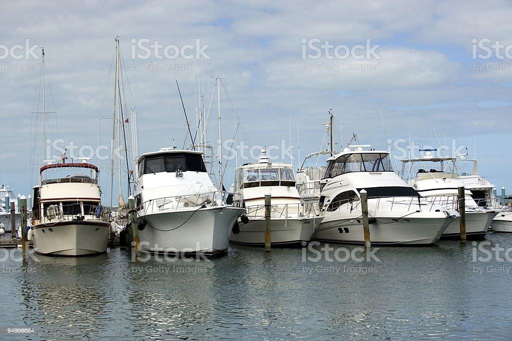 Key West harbor stock photo