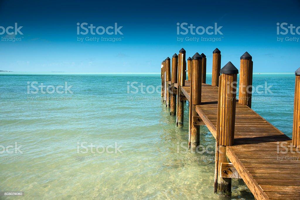 Key west pier stock photo